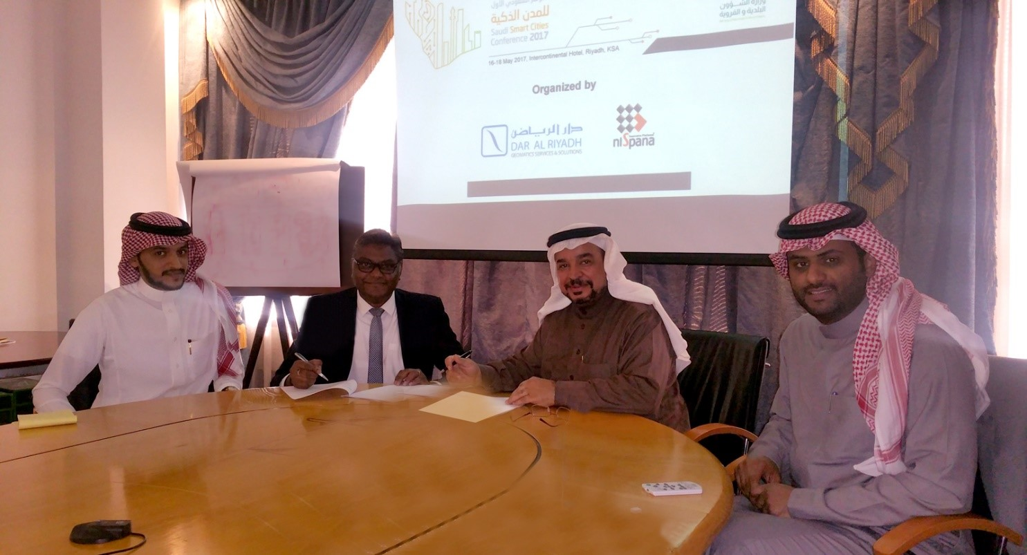 UNDER THE PATRONAGE OF THE MINISTRY OF MUNICIPAL AND RURAL AFFAIRS (MOMRA), DAR AL RIYADH AND NISPANA JOINTLY ANNOUNCE THE FIRST SAUDI SMART CITIES CONFERENCE 2017