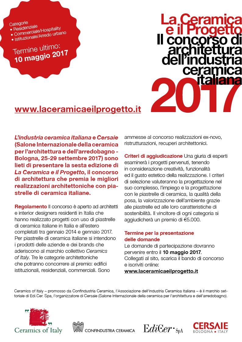 Al via il nuovo concorso La Ceramica e il Progetto!