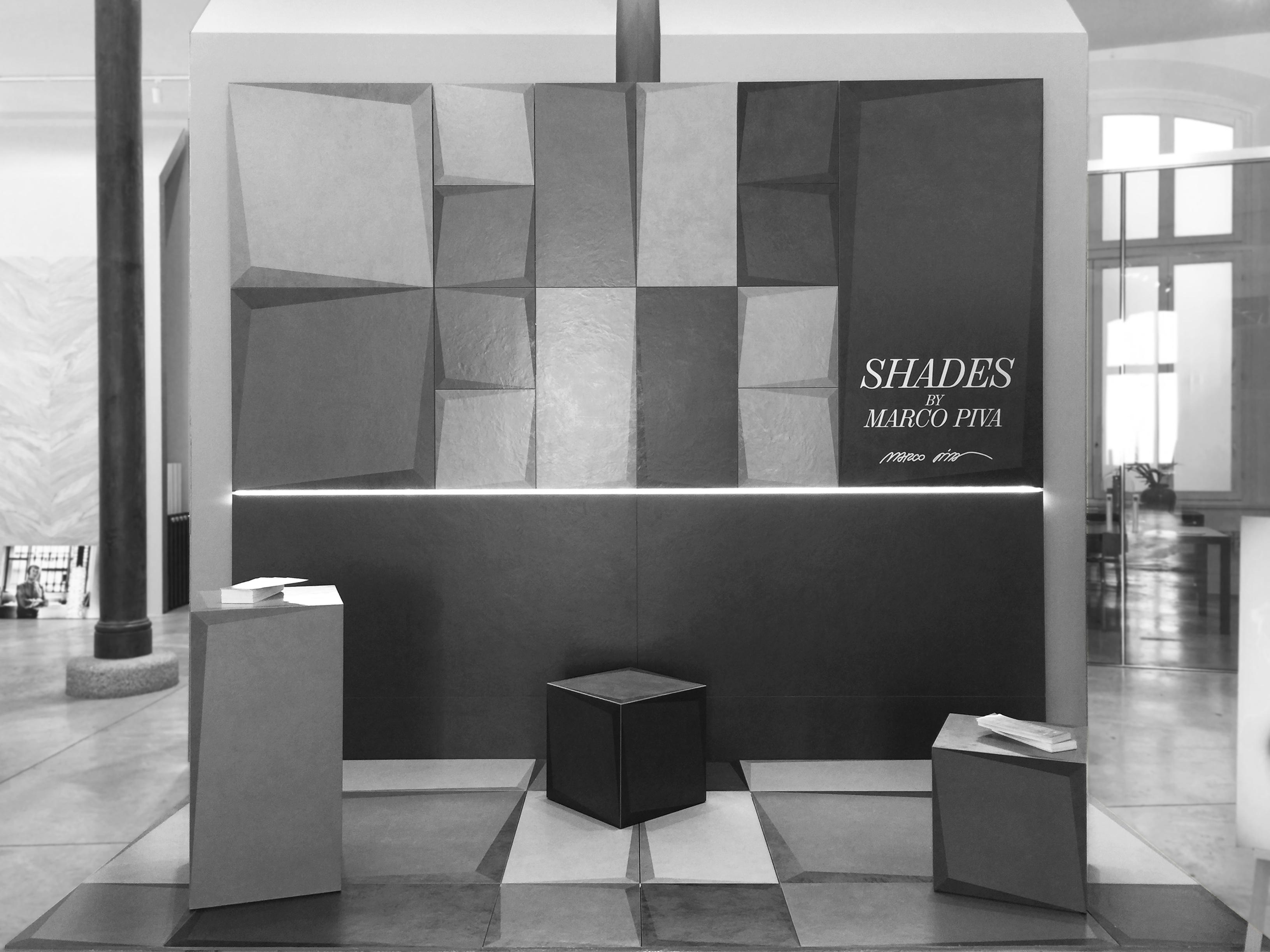 """""""SHADES"""" La terza dimensione """" apparente """" della ceramica Design Marco Piva per Casalgrande Padana"""