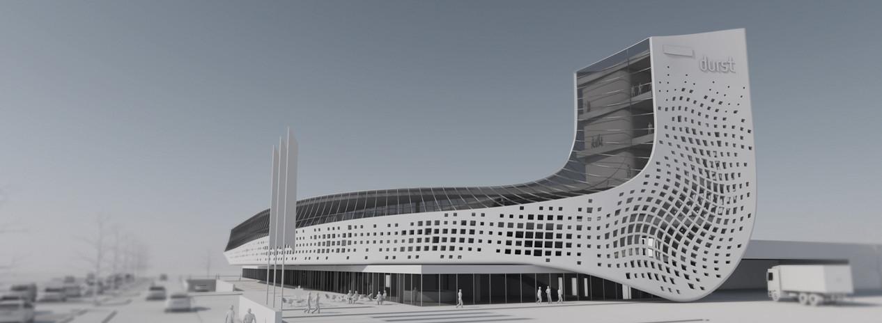 L'INNOVAZIONE DI DURST IN UN NUOVO PROGETTO ARCHITETTONICO Cerimonia inaugurale per l'avvio dei lavori del nuovo building