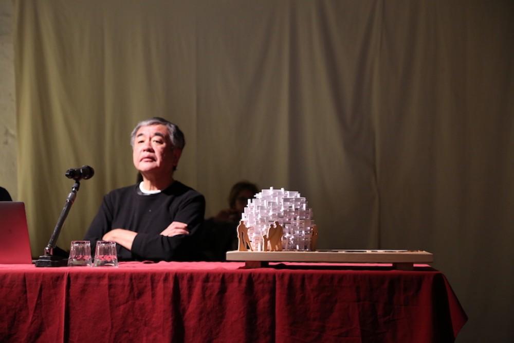 Ceramiche Keope al fianco di Arte Sella all'inaugurazione dell'opera di Kengo Kuma