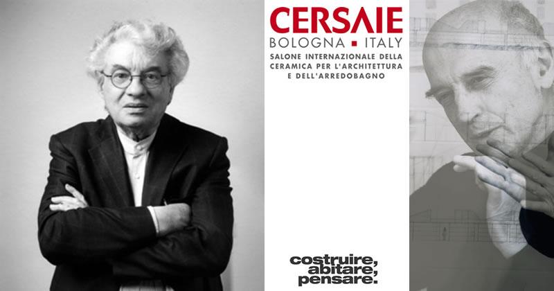 I maestri Mario Botta e Guido Canali in dialogo a Cersaie 2018