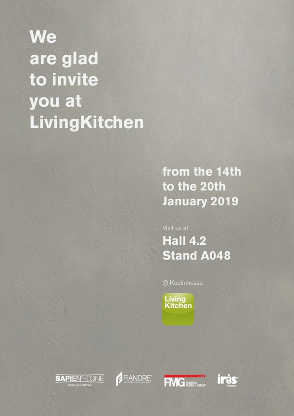 Iris Ceramica Group brands will be present at LivingKitchen 2019 @Koelnmesse