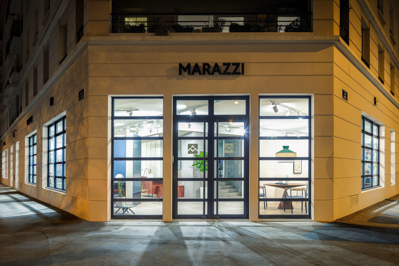 Marazzi inaugura un nuovo spazio espositivo a Lione, sede storica del Gruppo in Francia.