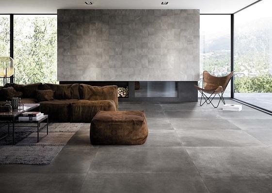 Nuove possibilità di progettazione per il gres porcellanato di Maku e Milano&Floor, ora nel grande formato 120×120.